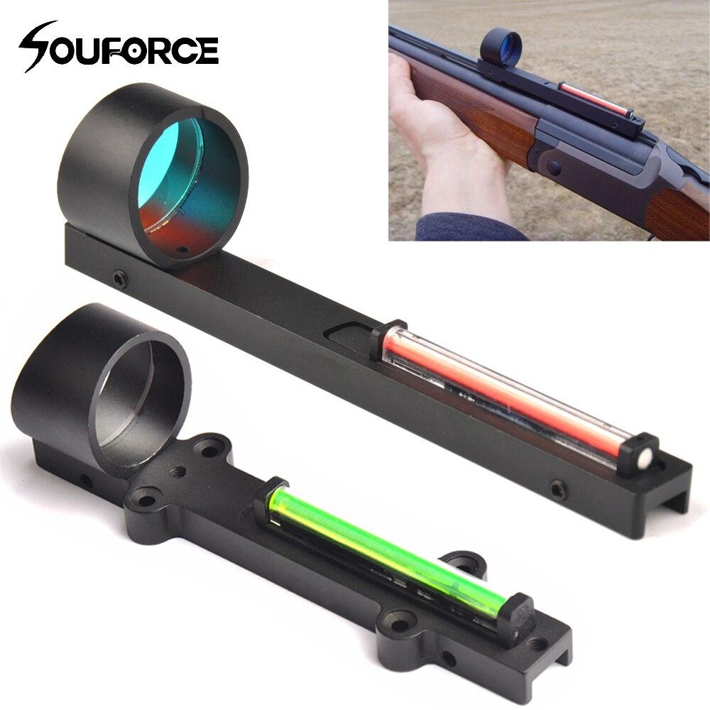 Tático vermelho verde fibra vermelho verde dot sight scope vista holográfica ajuste shotgun rib ferroviário caça tiro