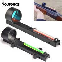 Tactical Red Green Fiber Red Green Dot Sight Scope Holographic Sight Fit Shotgun Rib Rail Hunting Shooting
