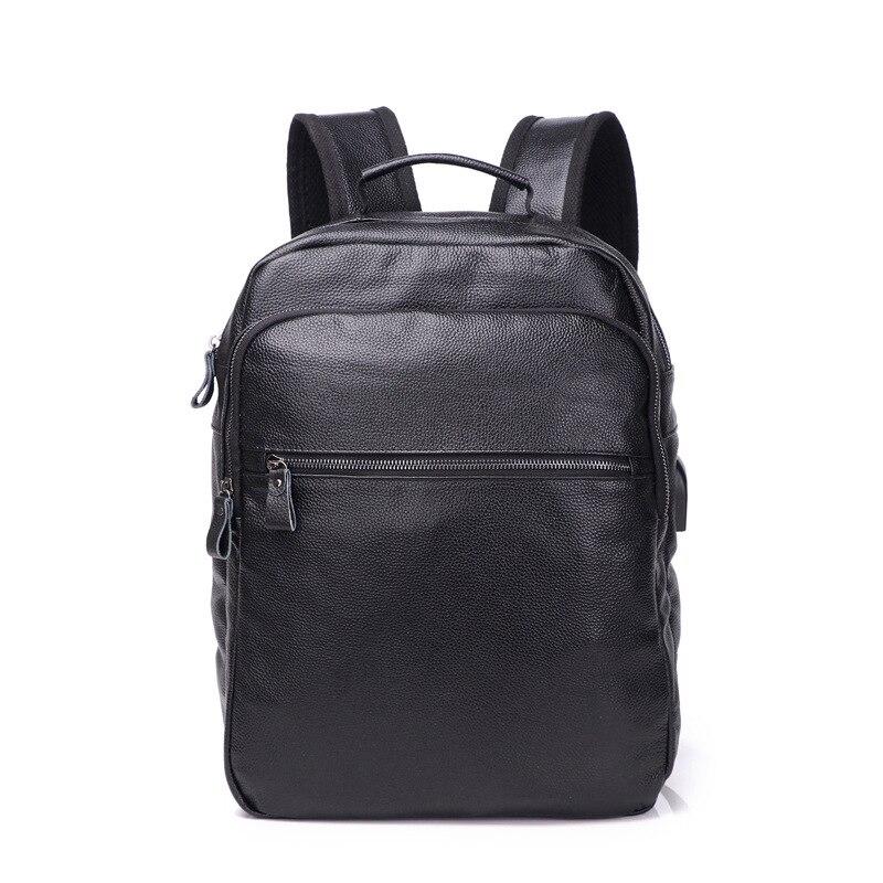 Men s Genuine Cow Leather Backpack Laptop Male School Bag High Quality Men Daypacks Korea Style