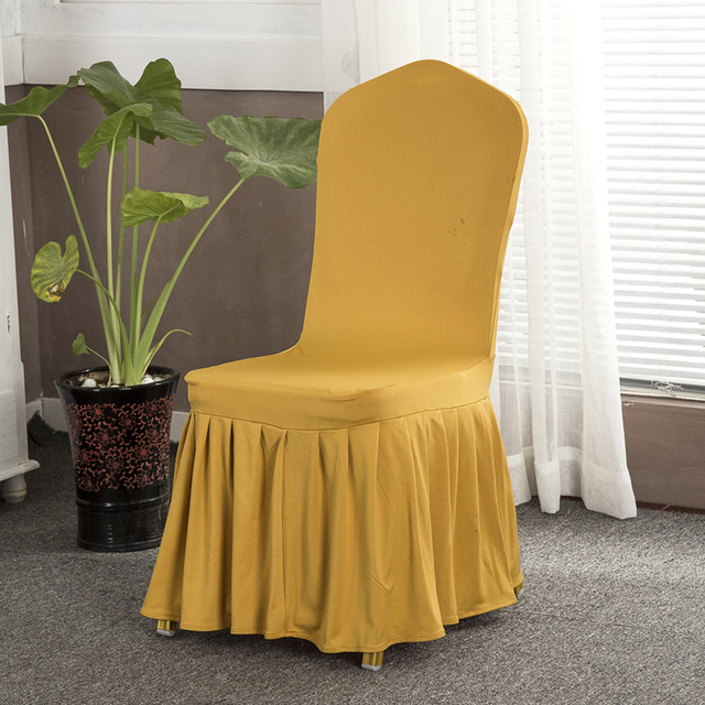 Spandex Dining Chair Covers With Skirt For Weddings Hotel Chair