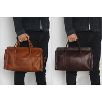 Men's Retro Real Leather Weekender Duffel Overnight Bag Carry On Luggage luggage bag