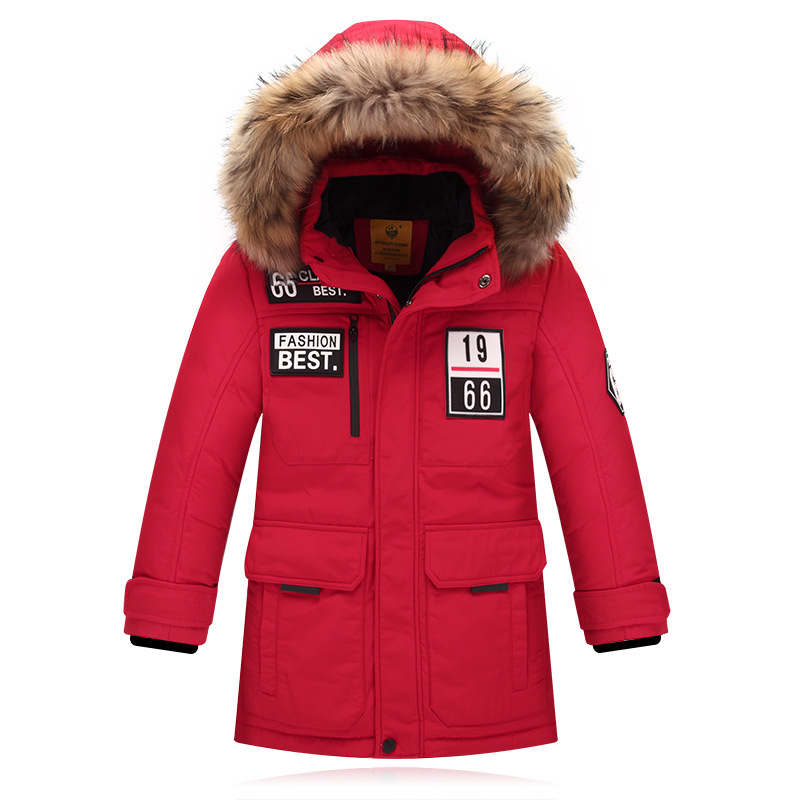 Fashion Children's Down Jackets/coat Winter fur Big Boy Girl Coat Thick Duck Down Feather Jacket Outerwear Cold Winter-40degree coat