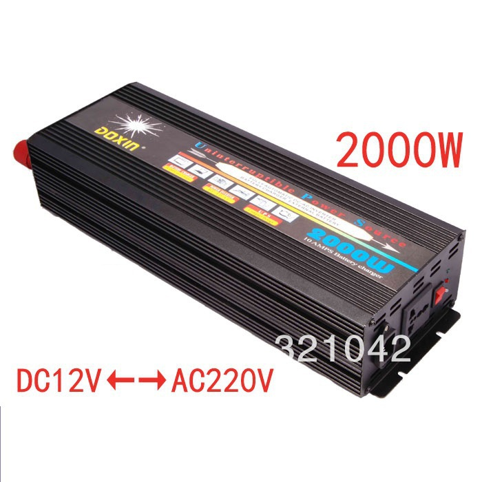 цена на 2000W DC24V to AC220V power inverter with charger 10A ,UPS power inverter battery charging function