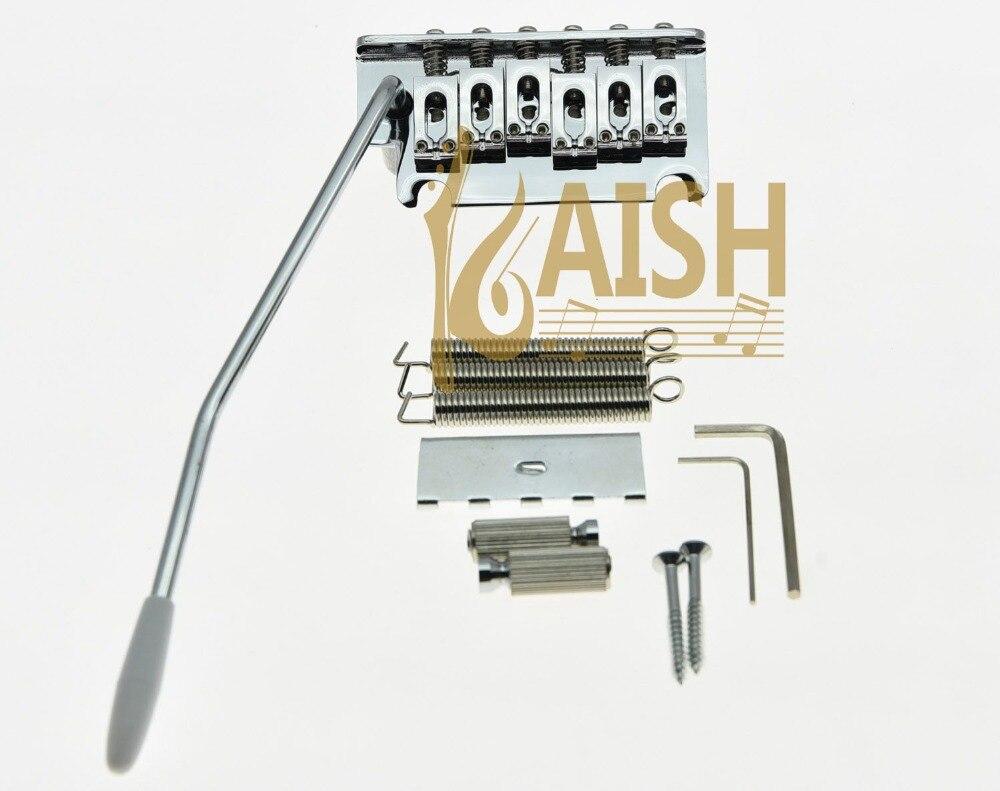 Chrome 2 Point ST Style Guitar Tremolo Bridge Locking System kaish chrome with chrome tip st style guitar tremolo arm whammy bar fits st