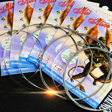 1 pc Corde della Chitarra Anima In Acciaio Placcato In Acciaio Rivestito In Lega di Nichel Ferita Corde della Chitarra Elettrica Super Leggero 1st-6th