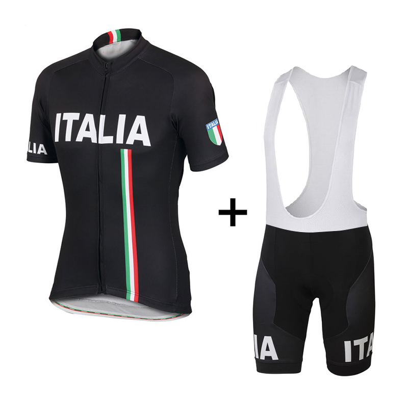 ITALIA Pro Team Cycling Jersey Pro Team Short Sleeve Bicycle Clothing Set Bike wear Breathable Cycling Clothing and bib shorts 2016 pro team merida bike cycling clothing cycling wear cycling jersey bicycle sportswear short sleeve suite green black