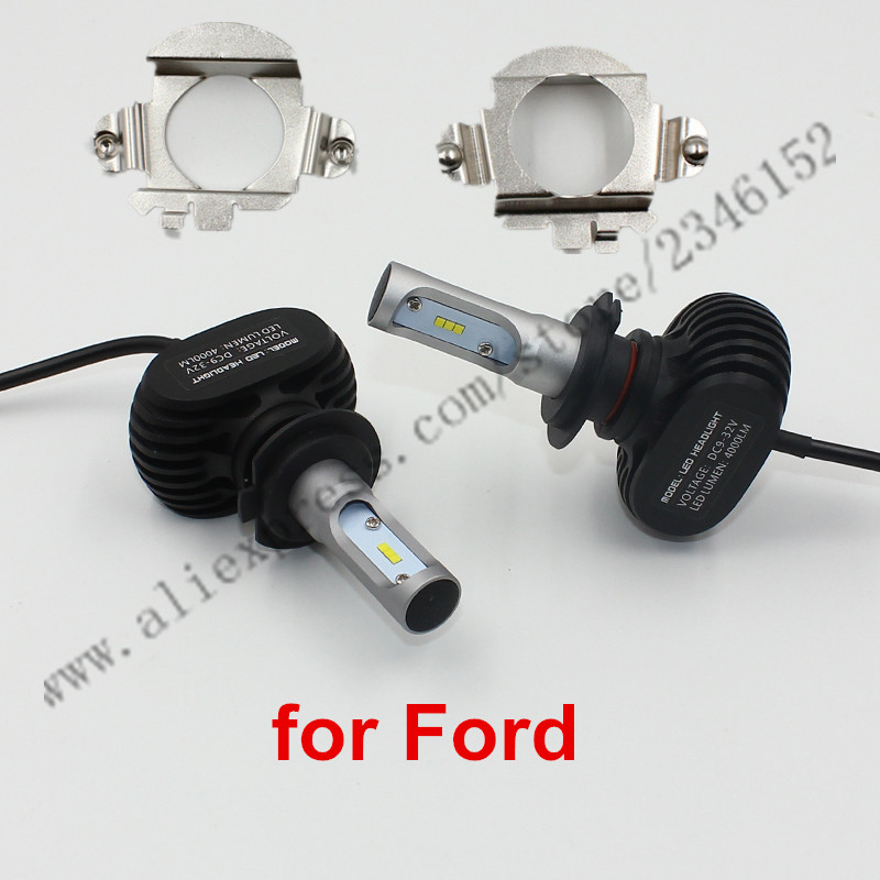 ФОТО H7 led headlight head lamp kit with adapter For Ford EDGE H7
