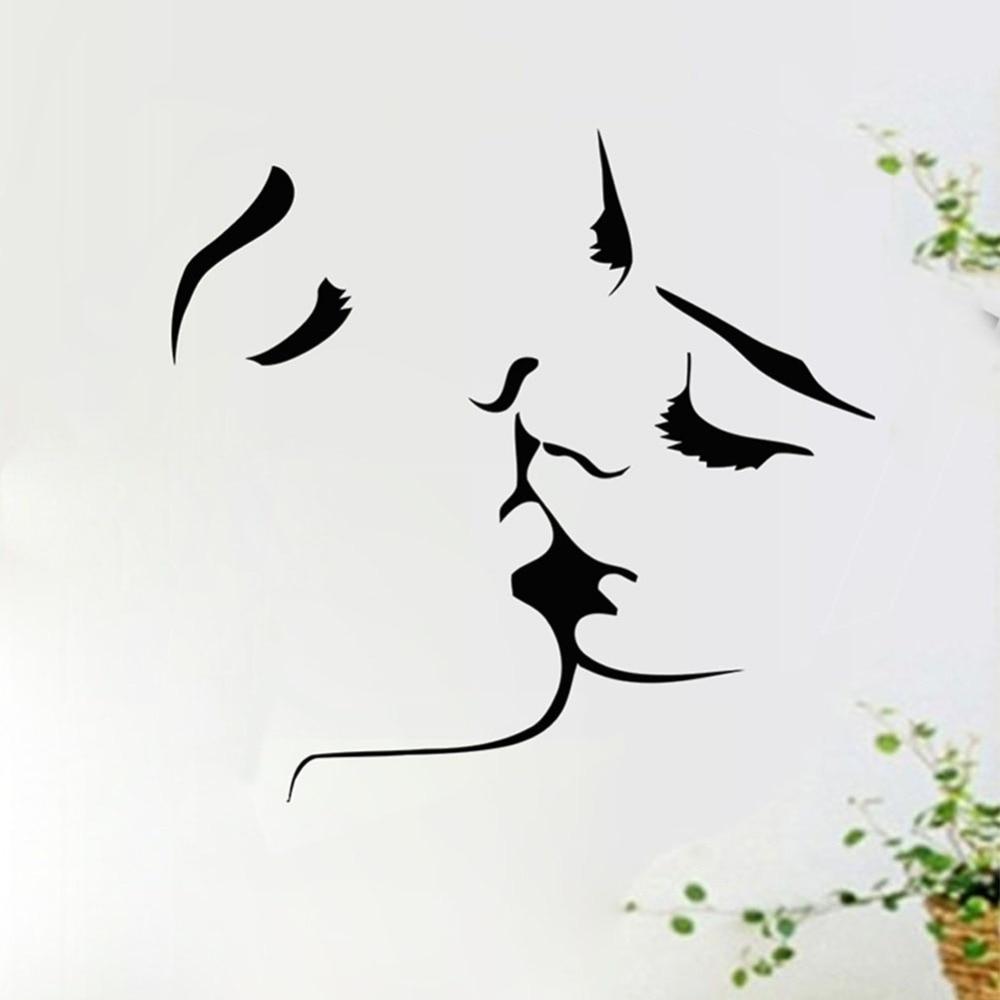 Removable Art Kissing Lover PVC