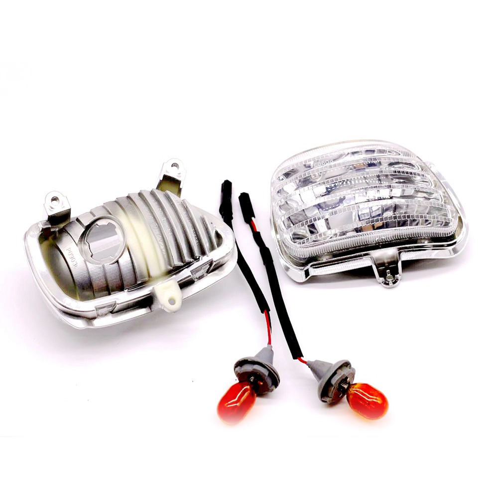 New Clear Plastic Front Side Turn Signal Lights For Honda Goldwing GL1800 2001 2002 2003 2004 2005 2006 2007 2008 2009 2010 2013