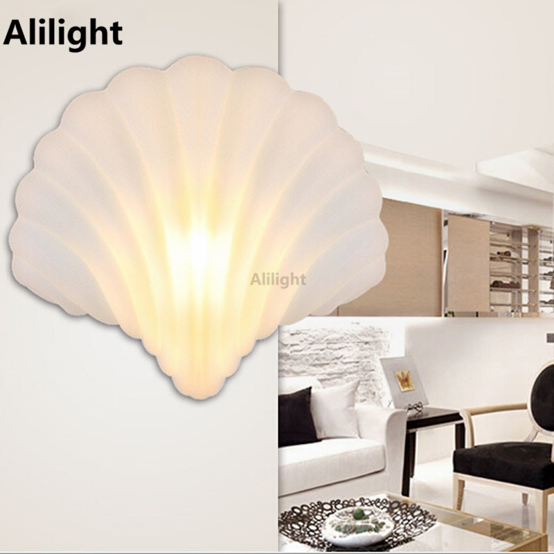 Lighting Basement Washroom Stairs: Unique Design Shell Shape Modern Led Indoor Wall Lamps