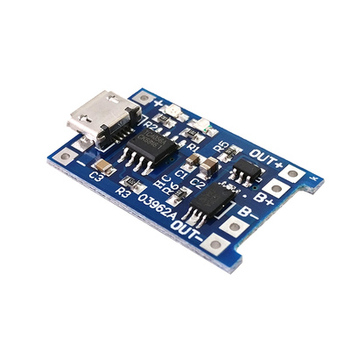New Version 5V 1A Micro USB 18650 Lithium Battery Charging Board Charger Module+Protection Dual Function Diy Robot Part Kit image