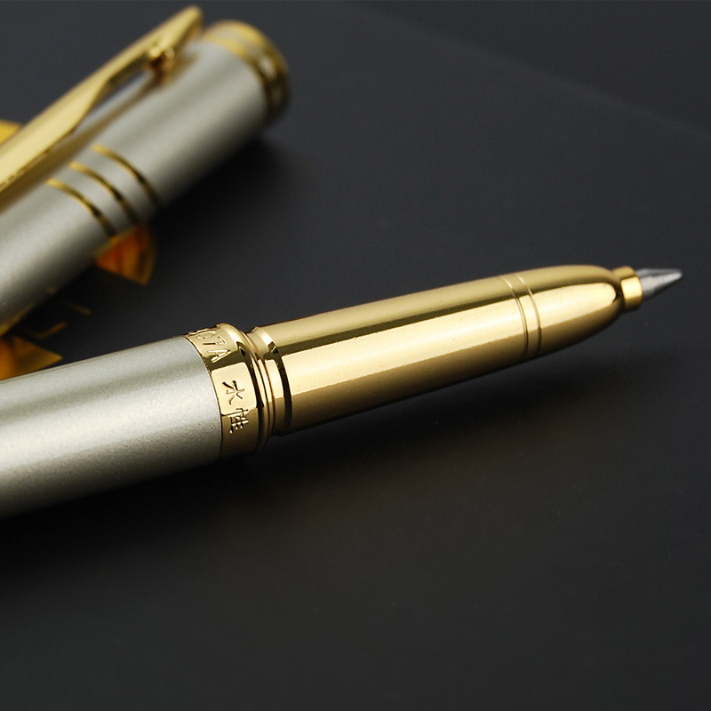 0 5 mm Luxury Roller Ball Pen Golden Metal Ballpoint Pens Signing Pen For Business Writing Office School Stationery Supplies in Ballpoint Pens from Office School Supplies