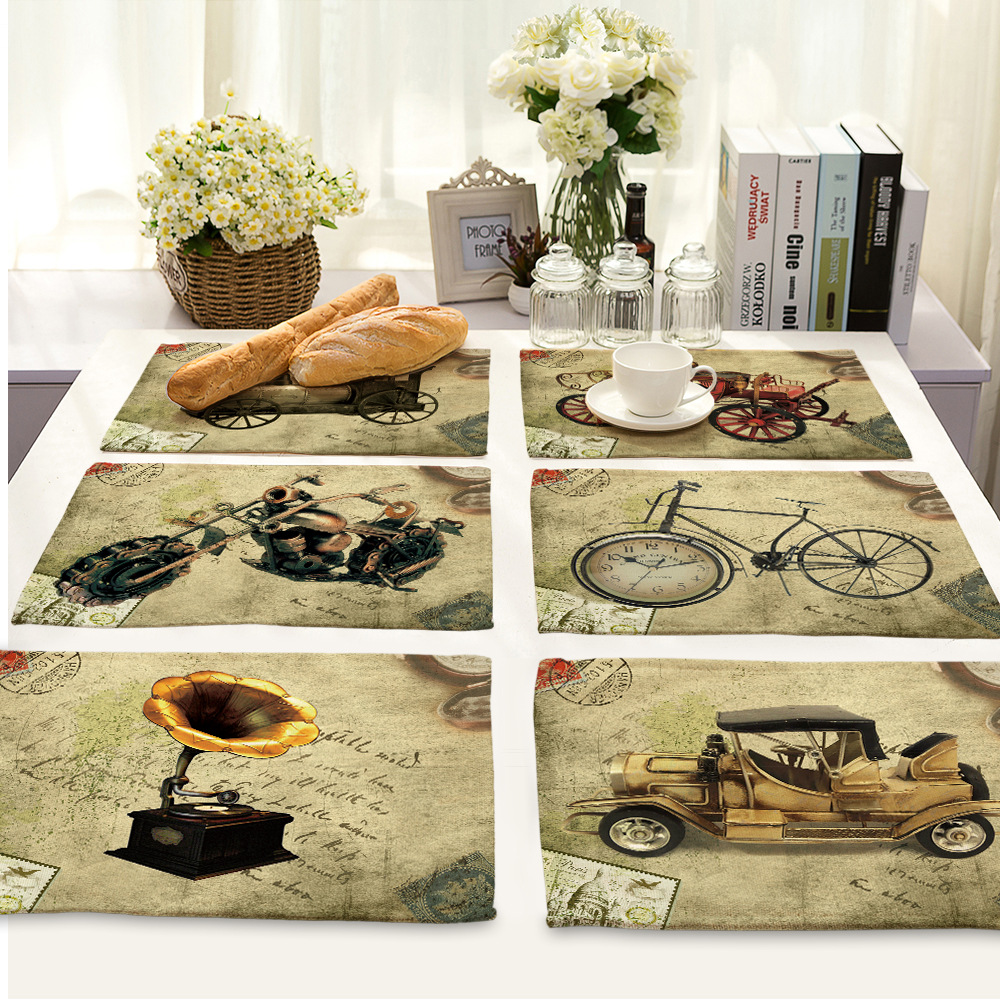 Table english pub table antique periodic table product on alibaba com - Cammitever Restro Bike Motorcycle Classic Car Dinner Mats Placemat Bar Mat Plate Mat Rectangle Table Mat