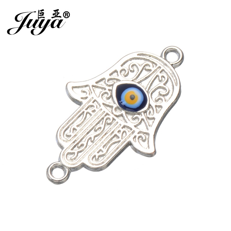 Evil Eye Hamsa Clip on Pendant Charm for Bracelet or Necklace