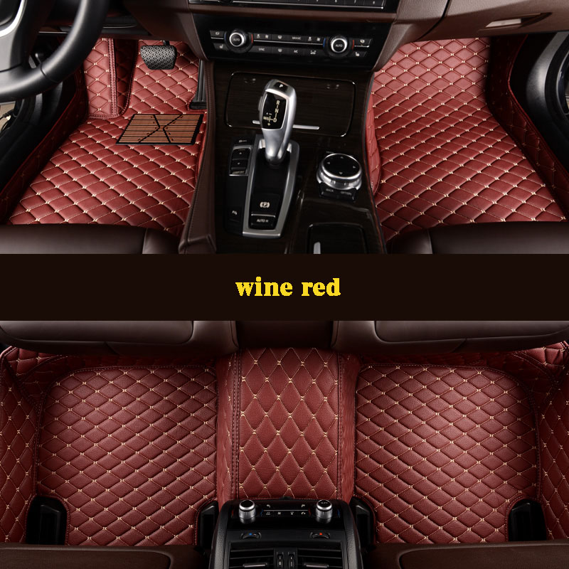 kalaisike Custom car floor mats for Ssangyong All Models Rodius ActYon Rexton kyron Korando car styling auto accessories