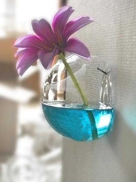 wall glass vase terrarium half round vases cute flower pots glass modern vaso wedding floor air planter decorative vase - Decorative Glass Vases