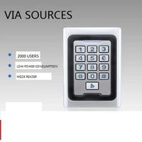 Direct Factory Non waterproof door gate opener keypad reader Rfid 125khz Metal Single Door Access Controller Rfid Keypad