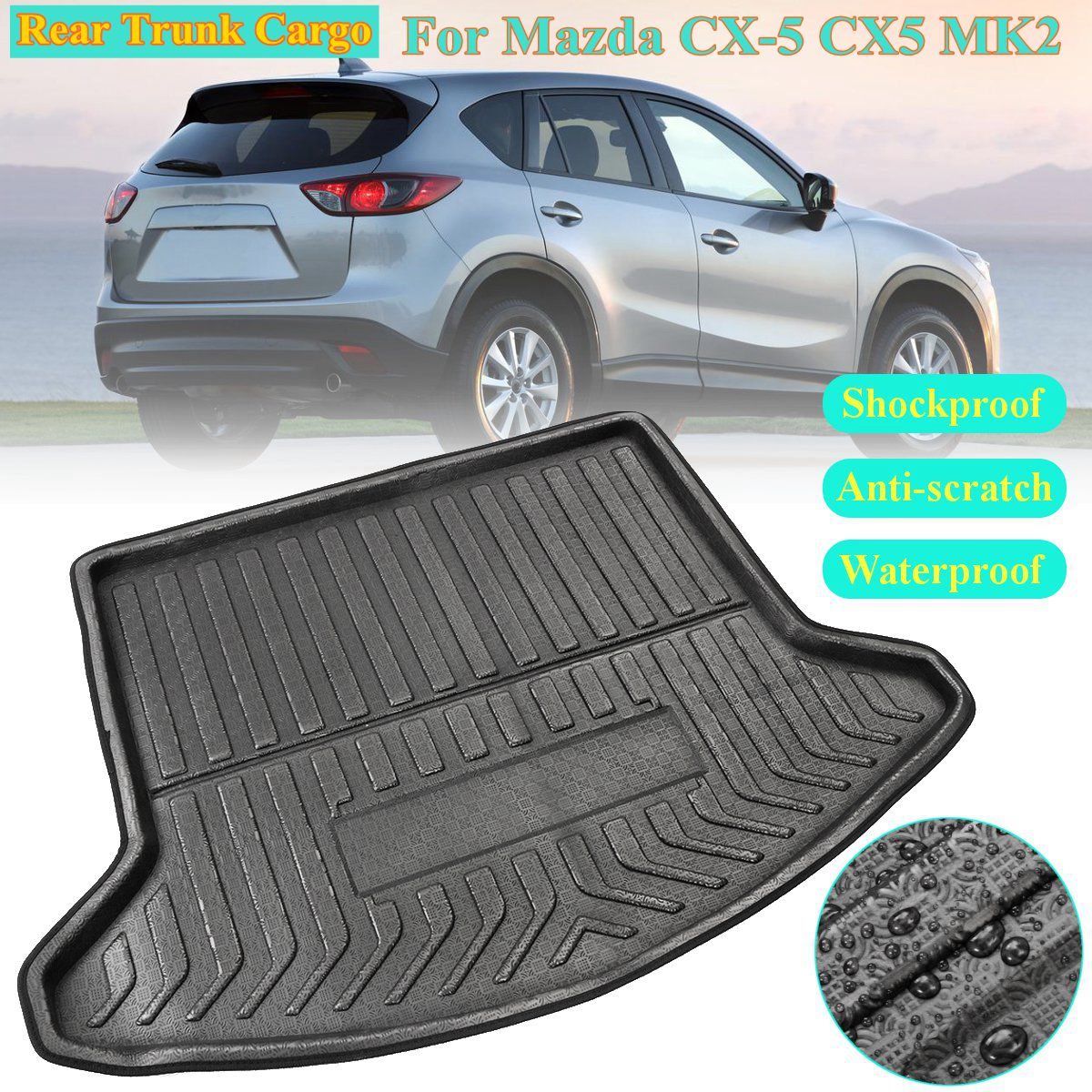 PE+EVA Rear Trunk Cargo Car styling Interior Accessories Boot Liner Waterproof Mat for Mazda CX 5 CX5 MK2 2017 2018