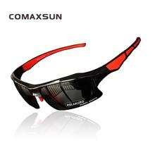 COMAXSUN profesjonalne spolaryzowane okulary rowerowe okulary mężczyźni kobiety 25g gogle rowerowe okulary przeciwsłoneczne sportowe UV 400 128 tanie tanio Polarized 7 cm Poliwęglan 4 cm STS128 Octan Jazda na rowerze Black