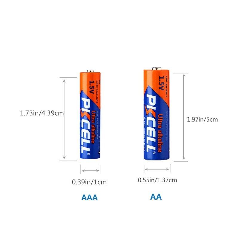 PKCELL 15 шт. AAA LR03 1,5 в 140 мин супер щелочные сухие батареи aaa для Walkman пульт дистанционного управления игрушки