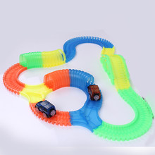 Glow Racing Track Car Toy For Boy Kids LED Light Track Car Flexible Glowing Track Toys Race Track Assembly Lightning Toys Truck(China)