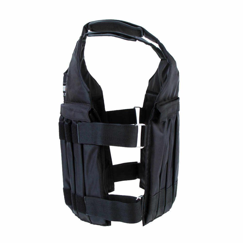 SUTEN 20 кг/50 кг нагружаемый утяжеленный жилет для тренировки бокса фитнес-оборудование для тренировки Регулируемый жилет куртка Песочная одежда