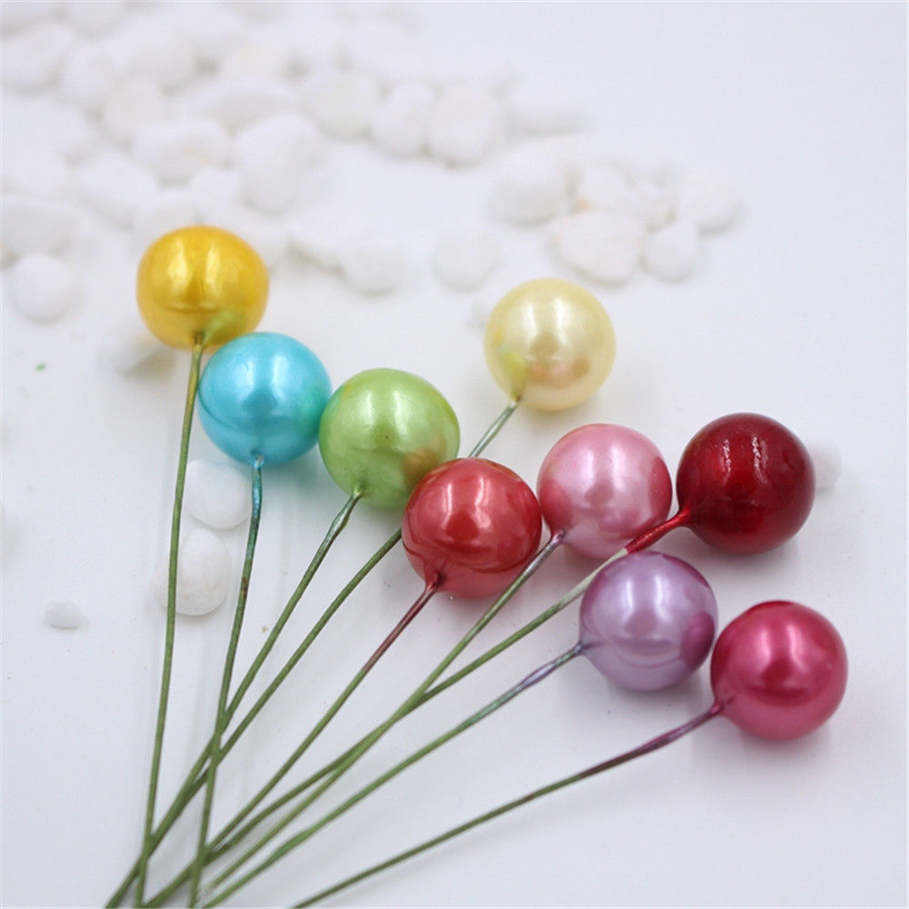 cheap 40pcs Plastic Pearl Artificial Stamen Flower For Wedding ...