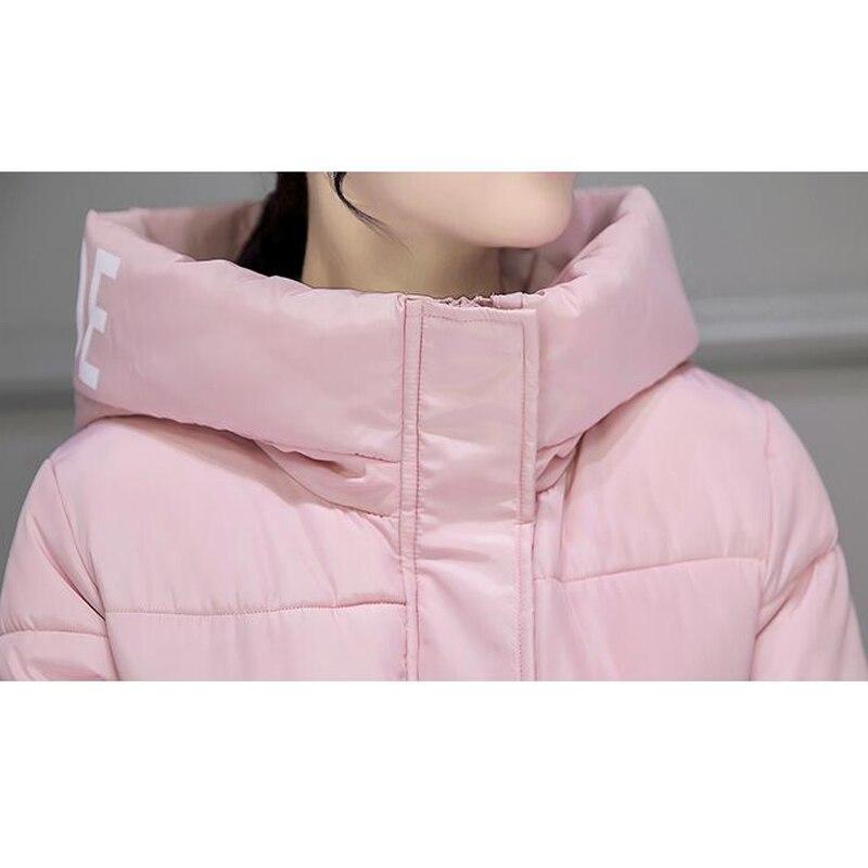 Parcs black Xylxjq white Casual Épais Manteau Femmes Chaud À Vestes Long red En Et grey Hq085 Coton Rembourré 2017 Pink khaki Capuchon Veste Hiver YY6nWHa