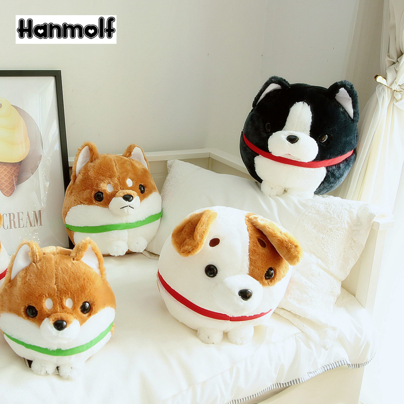 US $8 49 |Ball Shaped Dog Plush Toy Stuffed Chubby Doggy Shiba Inu Boston  Dog Jack Russell Terrier Puppy Standing Doll 30/38cm-in Stuffed & Plush
