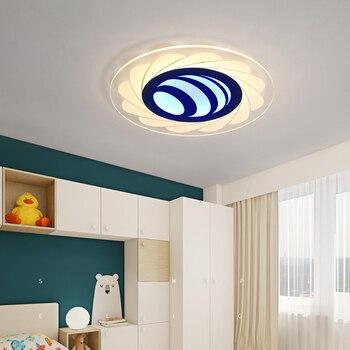 الحديثة بسيطة جولة نوم الأطفال غرفة led السقف مصباح ضوء دراسة صغيرة غرفة نوم ضوء السقف ضوء Z027115