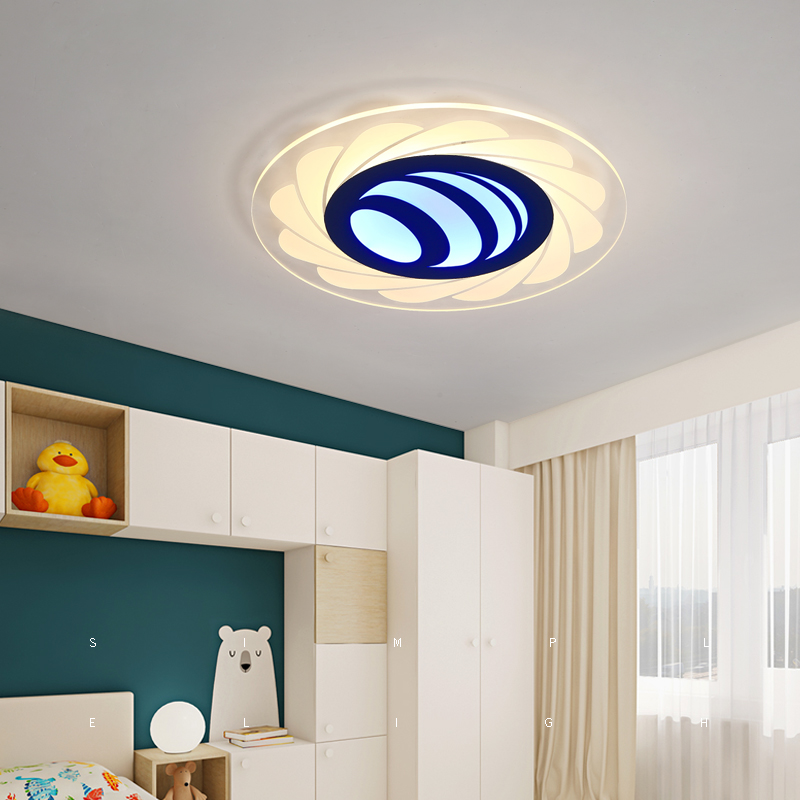 modern simple round Bedroom childrens room led ceiling lamp study light small bedroom light ceiling light ZA1027115