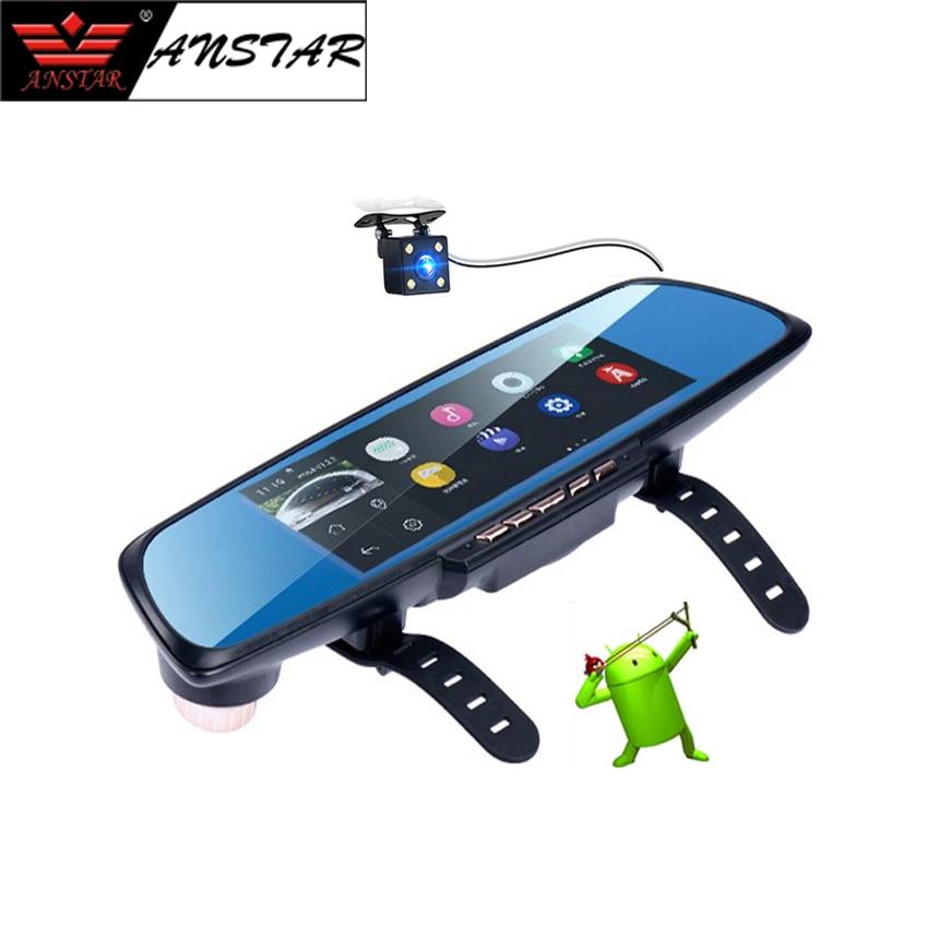 ANSTAR 6.86 Car Camera DVR HD 1080P Android WiFi Car DVR Dashcam Dual Lens Rearview Mirror Video Recorder Mirror Dashcam DVRS t6 1080p hd blue rearview mirror car video recorder dvr dash camcorder double lens dual camera night dashcam