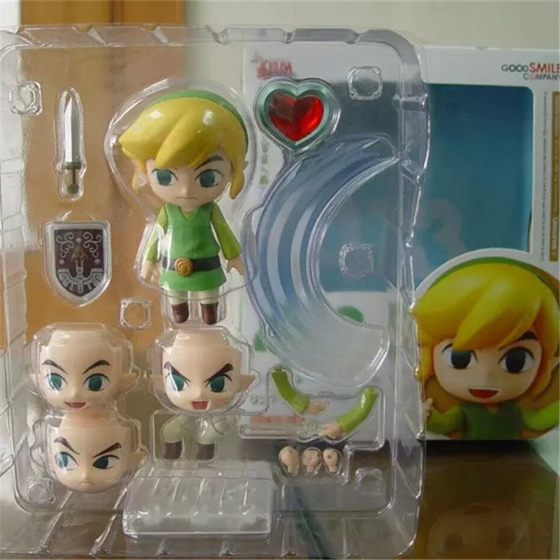 1pc/lot Moveable Toys Legend of Zelda Link Action Figure Toy Christmas Gift Kids Toys Doll +Shield+Weapon 10cm
