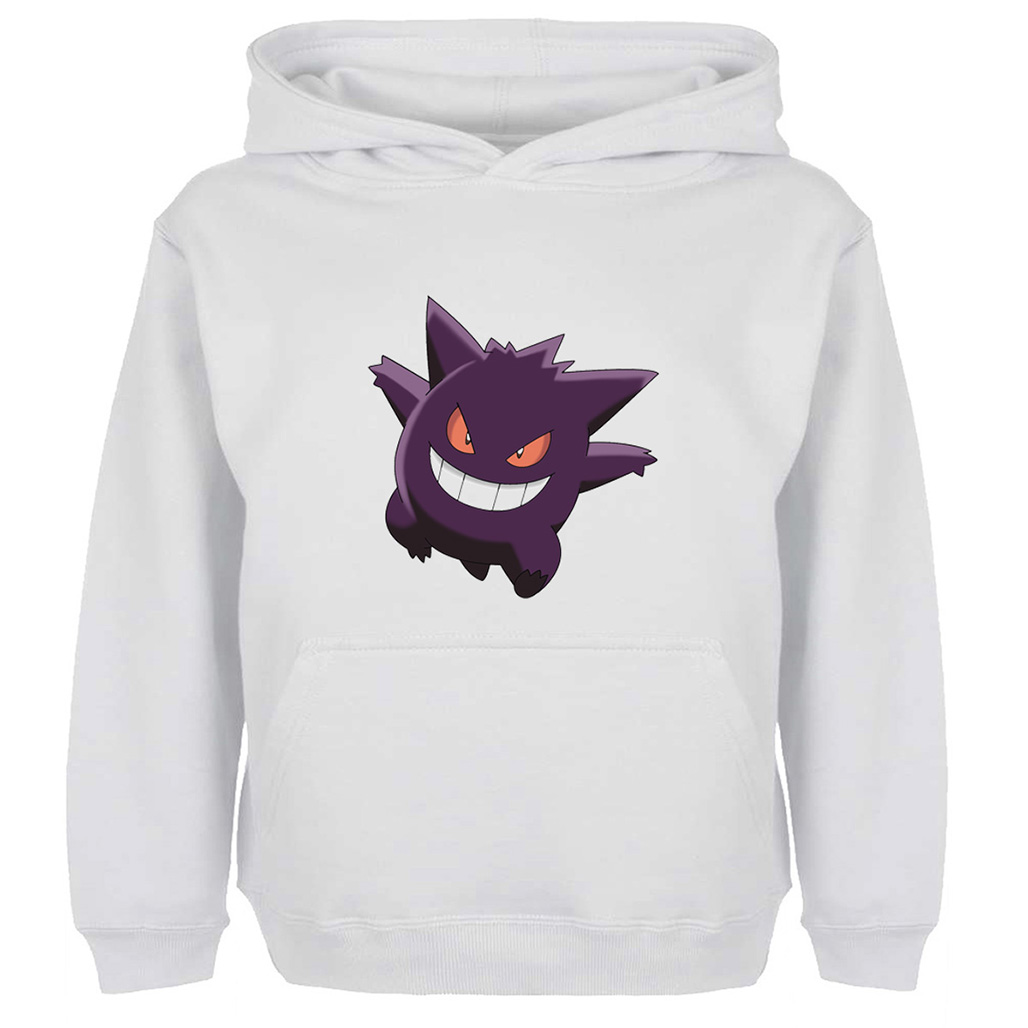 Harajuku Pokemon Gengar Hoodie Men Women Boy Girl Autumn Spring Winter Casual Sweatshirts Gray Off White Yellow Hooded Jackets