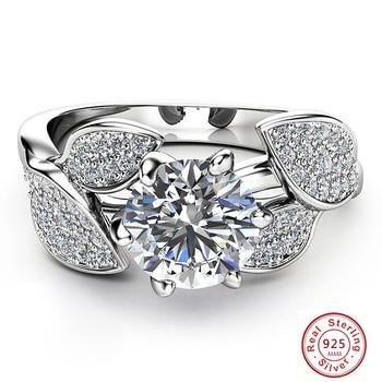 Dazzling Flower Ring 1 Carat Zircon