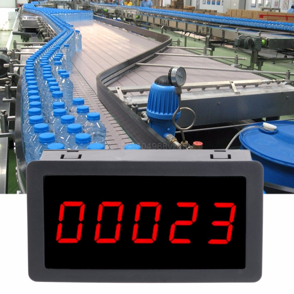 DC 12-24V Red 5 Digit 0.56 LED Panel Counter Meter Up Plus Totalizer 0-99999 Counter Meter F22 dropshipping