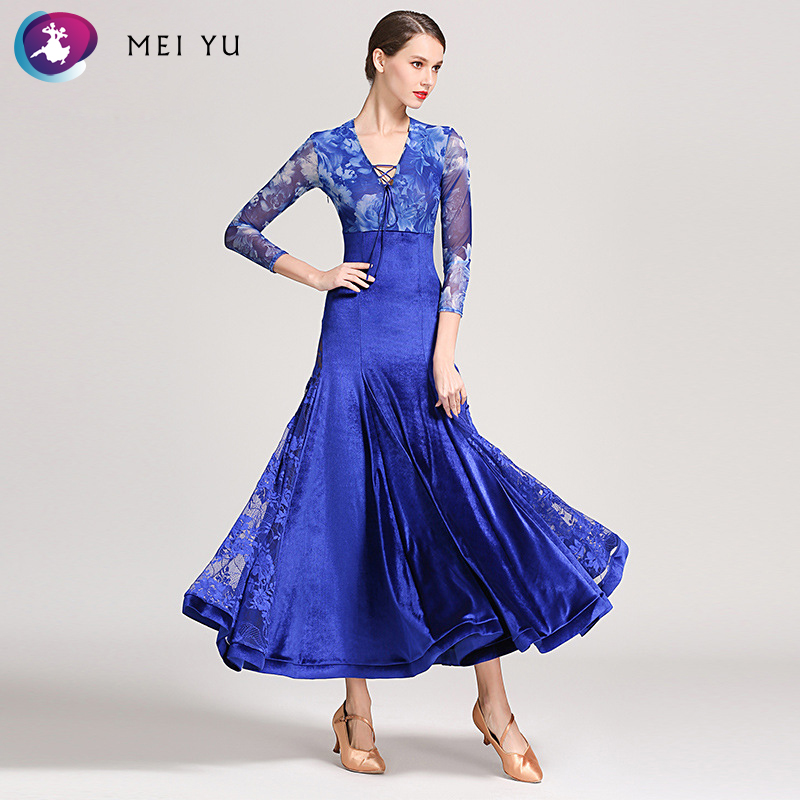 Mei Yu S9049 Moderne Dans Kostuum Vrouwen Dames Dancewear Waltzing Tango Dansen Jurk Ballroom Kostuum Avond Party Dress Goedkope Verkoop