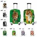 Новый 3D дизайн упругой туристические багажа тигр печать защитить чемодан крышка применить к 18 / 20 / 22 / 24 / 26 / 28 / 30 дюймов чехол