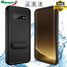 Case For Samsung Galaxy S10 Coque Swimming IP68 Waterproof 360 Degree Full Kickstand Cover Plus Phone