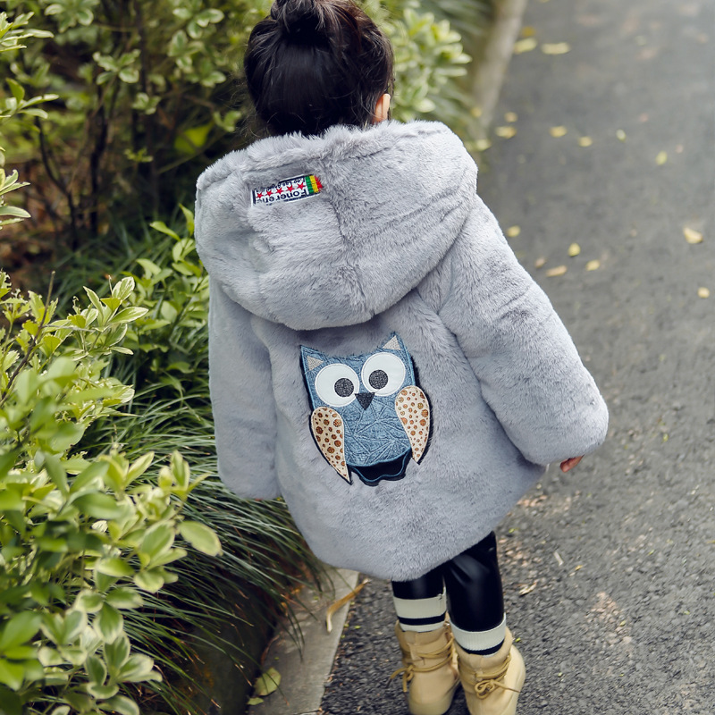 2018 New Winter Baby Girls Clothes Faux Fur Fleece Coat Pageant Warm Jacket Xmas Snowsuit 1-8Y Baby Hooded Jacket Outerwear faux fur jacket baby blumarine faux fur jacket