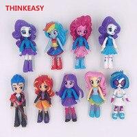 Thinkeasy 13センチ私のかわいいpvcラブリー馬poni誕生日パーティーツールアクション玩具置物人形女の子のためのクリスマスギフ