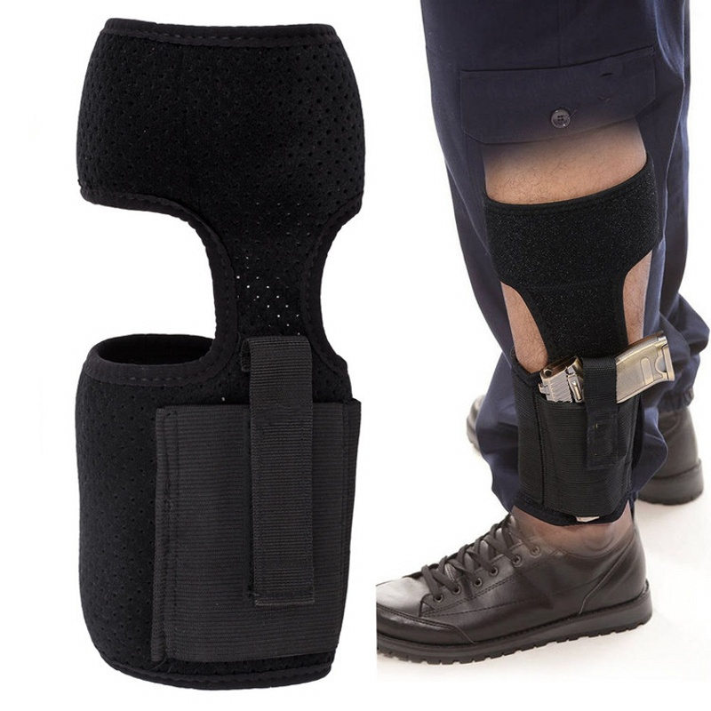 1pcs Adjustable Concealed Carry Ankle Leg Holster Magazine Pouch Concealed Pistol Carry Whshopping Security & Protection