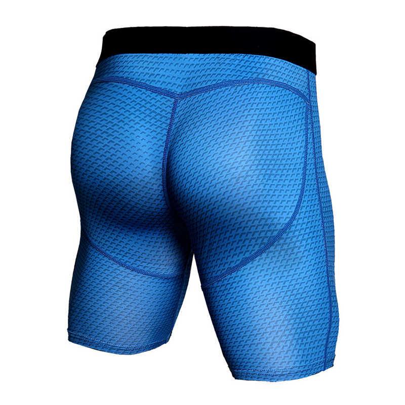 Baru 3D Dicetak Kompresi Celana Pendek Pria 2018 MMA CrossFit Celana Pendek Super Peregangan Olahraga Skinny Tights Binaraga Legging