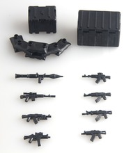 2016 new Military Series Custom swat police AK GUNS weapons pack army Bricks Arms Weapon  For City Police Compatible With Lego