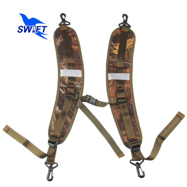 1 Pair Camouflage Breathable Adjustable waterproof Backpack Straps