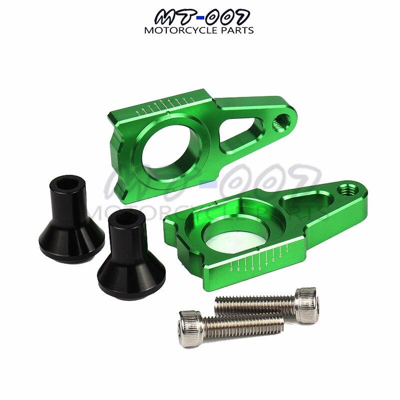 CNC Rear Axle Blocks Chain Adjuster With Spool Slider Bolts Device For KAWASAKI KX250 KX450 2006-2016 Free shipping