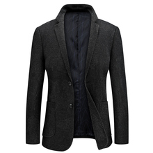 Smart Casual Single Button Gentlement Coat And Jacket Blazer Hombre Men Suit Jacket For Mes 8830 men houndstooth single button blazer