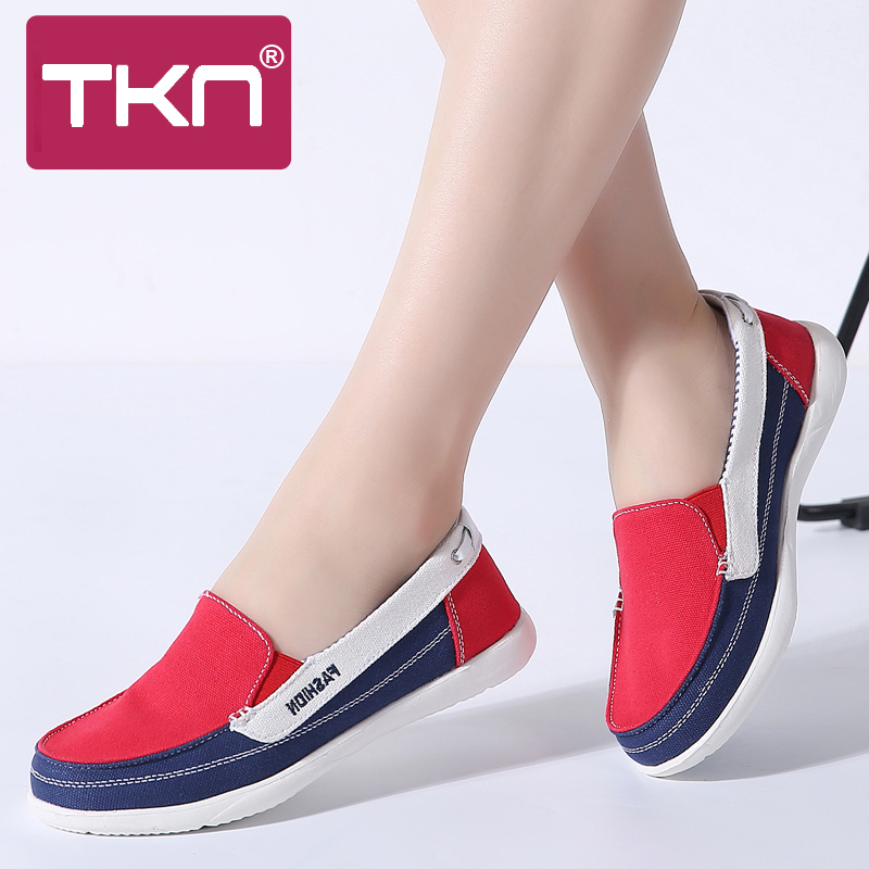 TKN 2019 spring women sneakers canvas shoes tenis slip on lo