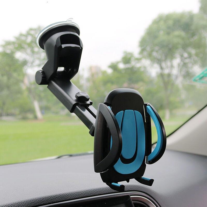JEREFISH Auto Handy Halter Gps Zubehör Saugnapf Auto-Dashboard Windschutzscheibe Mobile Handy Versenkbare Halterung Stehen