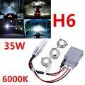 1pcs 35W Motorcycle HID Headlight Kit H6 Bi-Xenon Hi/Lo Light Bulb DC12V 6000KWhite High-quality